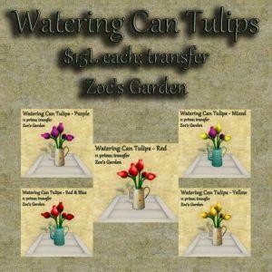 Watering Can Tulips GACHA AD