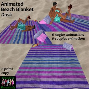 DD Animated Beach Blanket Dusk