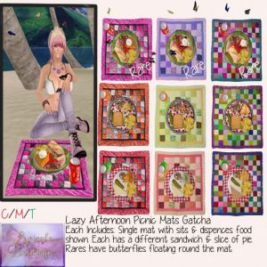 lyrs boutique Lazy Afternoon picnic mats gatcha add